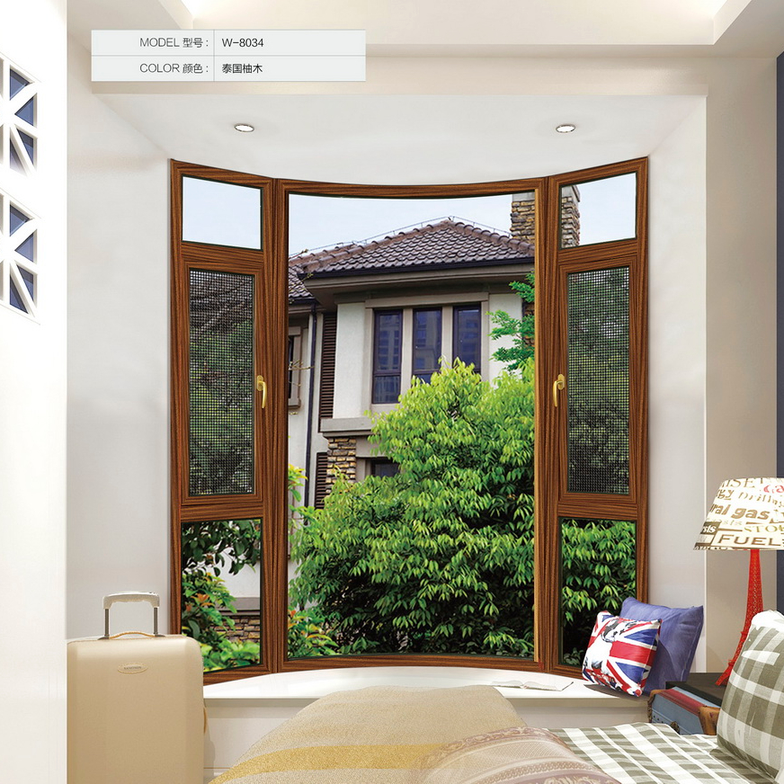 【晟王】窗纱一体断桥铝平开窗 W-8034